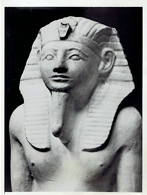 1937 Vintage Photo Portrait ancient statue bust of Pharaoh Amenhotep II of Egypt