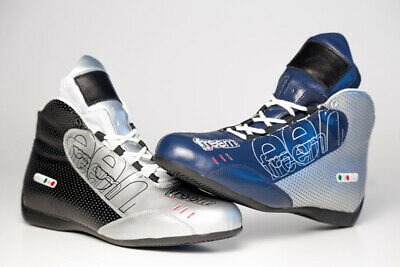 FreeM Sensitive Kart Karting Racing Boots Navy/Silver or Silver/Black ALL SIZES
