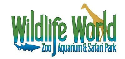 Wildlife World Zoo, Aquarium & Safari - Admission for 2 Children