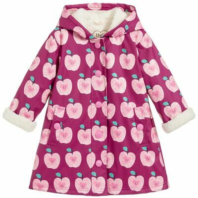 Hatley Girls Sherpa Lined Raincoat - Apples