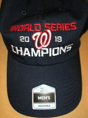2019 NATS WASHINGTON NATIONALS CHAMPIONS World Series Blue Cap Hat Red Free Ship