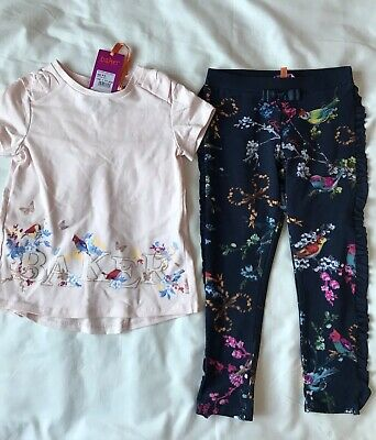 Ted Baker Toddler Girls Border Top And Legging Set Age 4-5 Years Old