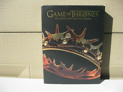 Game of Thrones: The Complete Second Season (DVD 2015 5-Disc Set) Unused Exc Cnd