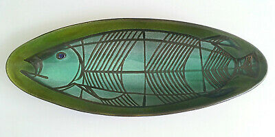 "Luzerner Keramik Switzerland 16"" fish bowl / mid century Swiss modernist pottery"