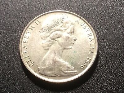 1966 Aust. round fifty cent coin.
