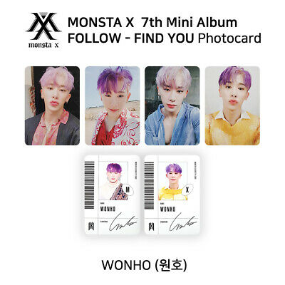 MONSTA X - 7th mini album - FOLLOW - FIND YOU Official Photocard - WONHO