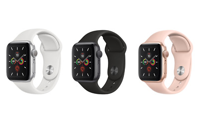 Apple Watch Series 5 44mm (Space Gray, Silver or Gold) (Aluminum, Sports Band)