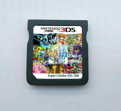 Games Cartridge 208 in 1 Game Multicart For Nintendo DS NDS NDSL NDSi 2DS 3DS
