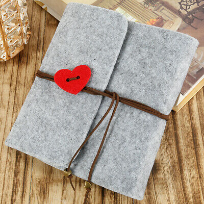 30 Pages Photo Album Felt Leather Scrapbook Gift  Travel Holiday Wedding Small