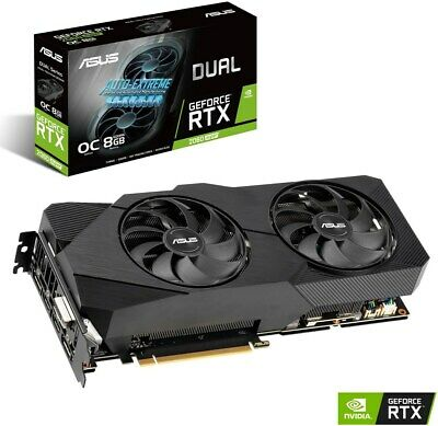 ASUS GeForce RTX 2060 SUPER DUAL OC  8 GB OC  High End PCIe Grafikkarte