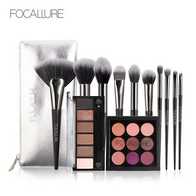 Focallure makeup set Eyeshadow Palette with Brush set Glitter shimmer eye shadow