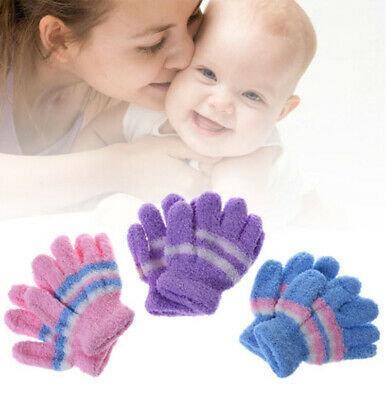 Baby Toddler Mittens Gloves Boys & Girls Assorted Colours Winter One Size-Winter