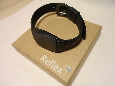 Bioflow Reflex black leather strap magnetic wrist unit