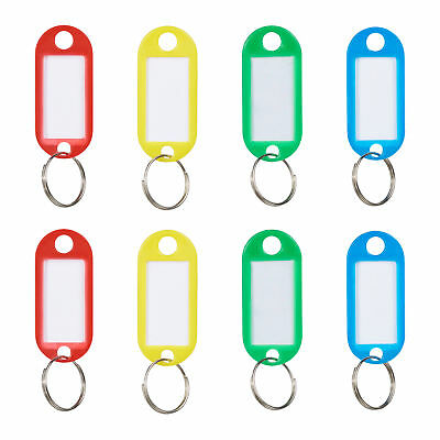 Key Tags with Labels Set of 50, Keychain Bulk with Rings, Key Organiser