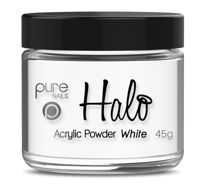 Halo By Pure Nails Acrylic Powder WHITE - 45g Pot