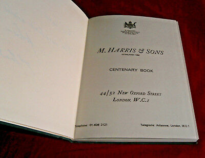 Book: M HARRIS & SONS 1868-1968. ANTIQUE FURNITURE. Fully Illustrated. Hardback.