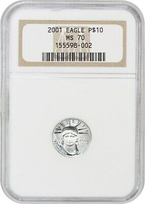 2001 Platinum Eagle NGC MS70 - Statue Liberty 1/10 oz