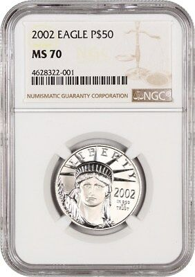 2002 Platinum Eagle NGC MS70 - Statue Liberty 1/2 oz