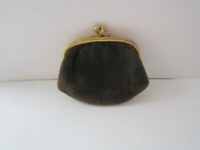 Vintage Very Rare 1950,Small Leather Ladies Coin Purse In Good Used Condition