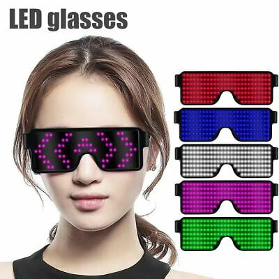 Led Flashing Party Glasses Light Up Sunglasses New Year Christmas Club Dance New