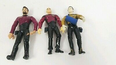 Star Trek The Next Generation Playmates Action Figures lot of 3