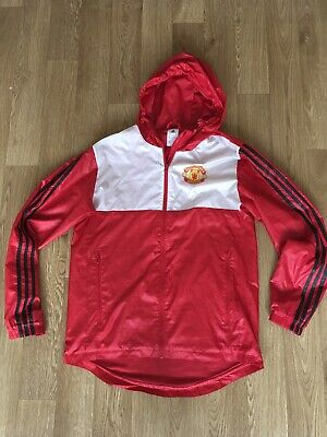 Adidas Manchester United Windbreaker Jacket Size Small Red
