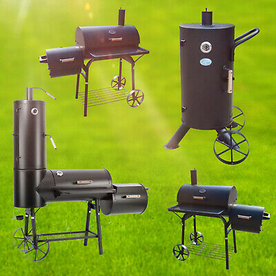 Pro Smoker Barbecue Cart Charcoal Steel BBQ Grill