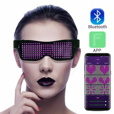 Led Bluetooth Party Glasses Flashing Light Up App Control New Year Christmas New