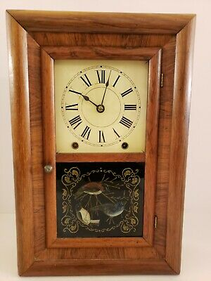 Antique Working 1860's Miniature Seth Thomas OGEE OG Mantel Shelf Clock
