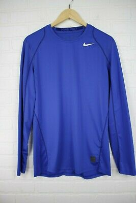 MEN/'S NIKE DRI-FIT PRO COOL SHORT SLEEVE Fitted fit WHITE 703104-100 SZ Large