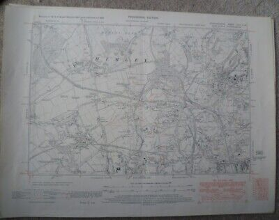 6 original Ordnance Survey maps of Black Country 1938 - Scale 6 inches to 1 mile