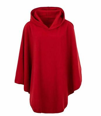 Ladies Womens Fleece Poncho Capes Hooded Anti Pill Fleece Cosy Winter Warm
