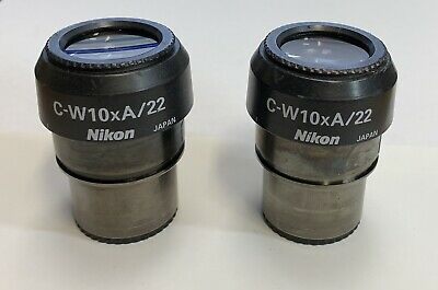 A Pair of Nikon C-W10xA/22 Extra Wide Microscope Eyepieces 30mm
