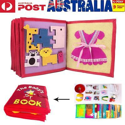 Kid's Cloth Book Non-Woven Picture Book Manual Three-Dimensional Book For Early
