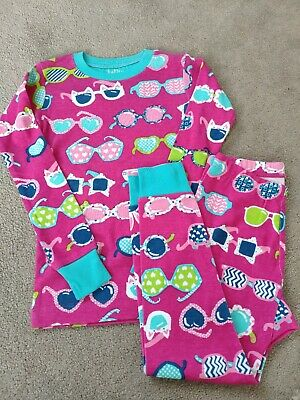 New girls HATLEY cat glasses sleeved top & trouser pyjama set 4 3-4