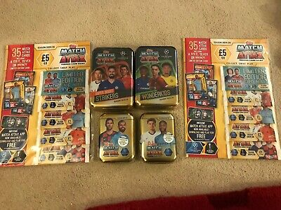 Match Attax Champions League Trading Cards 2019/20 includes tins & blister packs