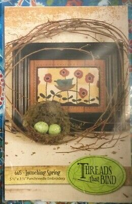 Punch Needle Embroidery Kit~ Threads That Bind~ 'Launching Spring' #665