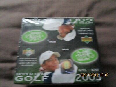 One 2003 Upper Deck Golf Card Factory Sealed Box. 24 Packs and 5 Cards per Pack