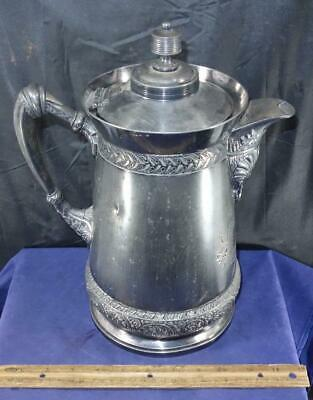 Fancy Antique Meriden Britannia Silver Plate Large Water Pitcher !!