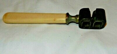Vintage Antique Knife Sharpener Faux Bone Handle Very Rusty