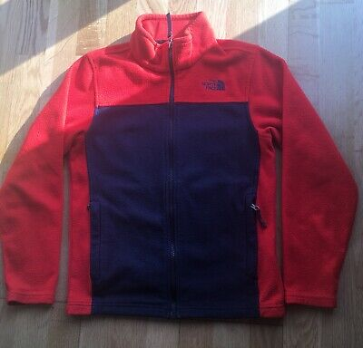 Boys Girls Kids Childs The North Face Full Zipped Fleece Jacket Top Size M 10-12