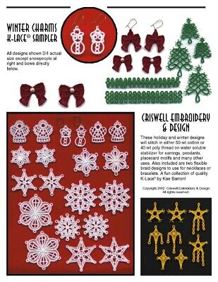 "Criswell Lace Embroidery Sampler CD  ""Winter Charms""- Multi Format"