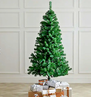 5ft/6ft/7ft Premium Green Artificial Christmas Xmas Tree With Pine Metal Stand