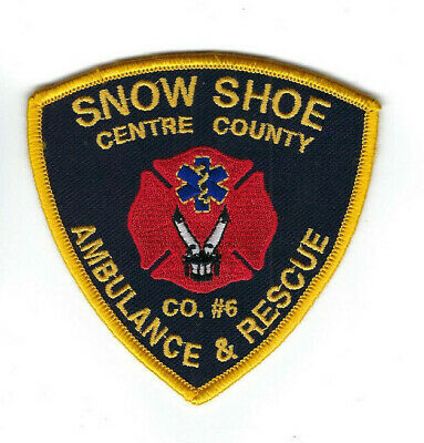 Snow Shoe (Centre County) PA Pennsylvania Ambulance & Rescue Co. #6 patch - NEW!