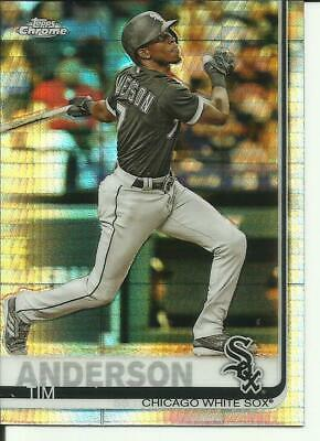 2019 Topps Chrome Prizm Refractor Tim Anderson card # 186 Chicago White Sox