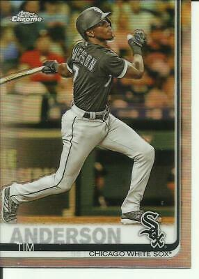 2019 Topps Chrome Refractor Tim Anderson card # 186 Chicago White Sox