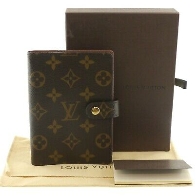 Auth LOUIS VUITTON Agenda PM Day Planner Cover Monogram Canvas R20700 #f29819