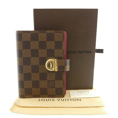 Authentic LOUIS VUITTON Agenda PM Coala  Damier Ebene R21011 #f29979