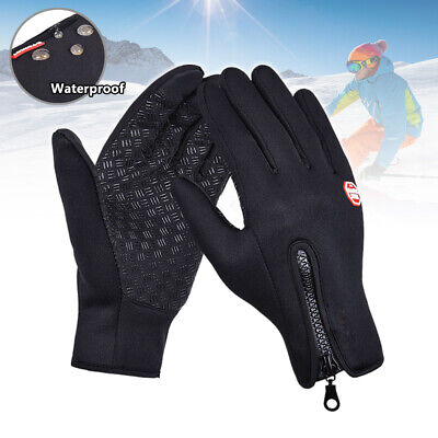 Mens Women Winter Warm Gloves Windproof Waterproof Thermal Touch Screen Mittens