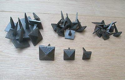 10 X Cast Iron Vintage Style Furniture Knock In Door Studs Wood Crafts Nails